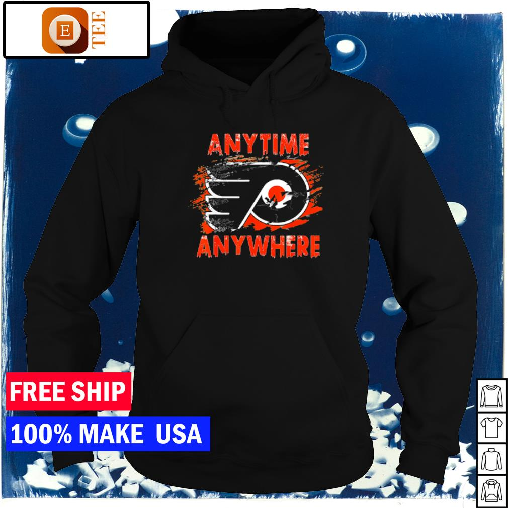 Philadelphia Flyers anytime anywhere logo s hoodie
