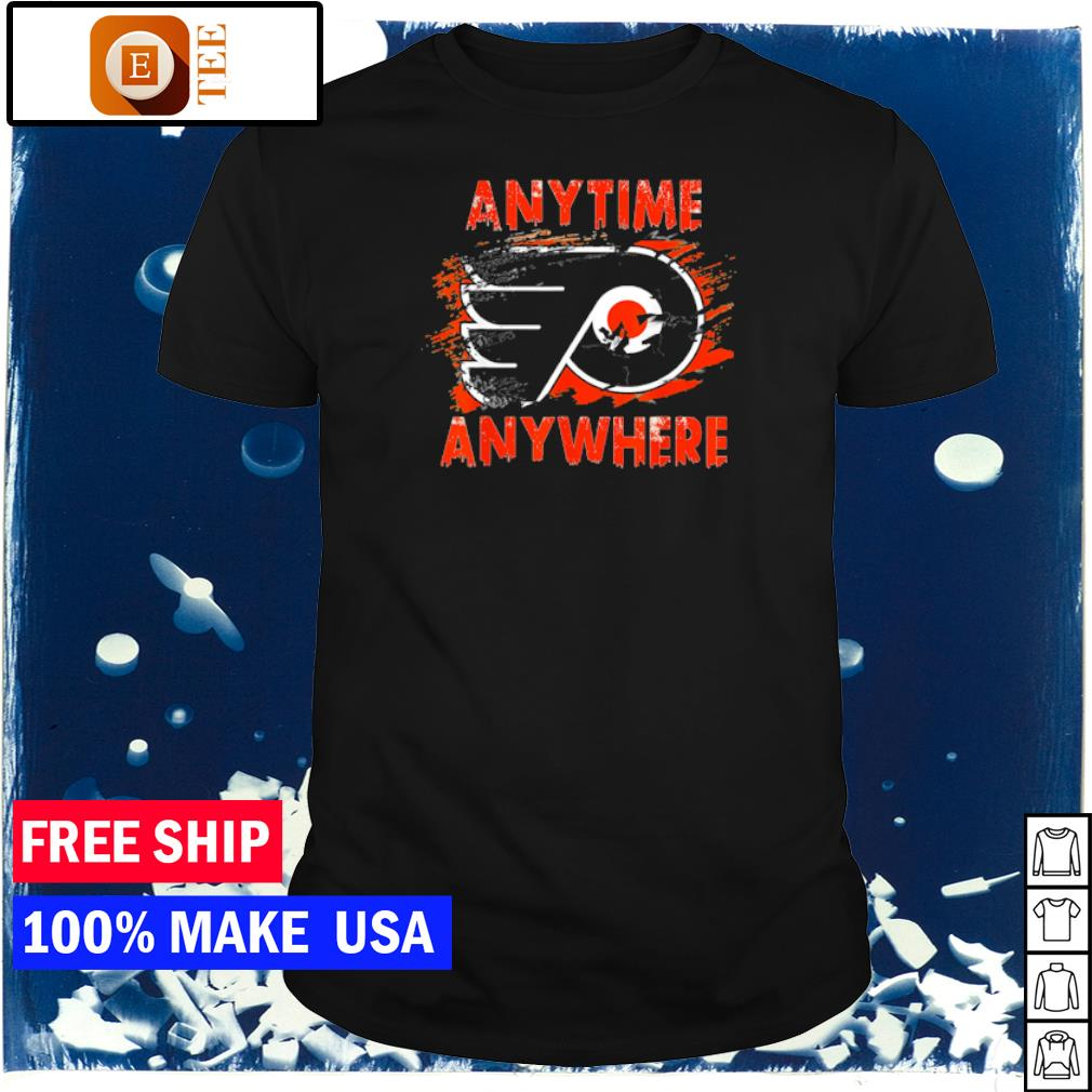 Philadelphia Flyers anytime anywhere logo shirt