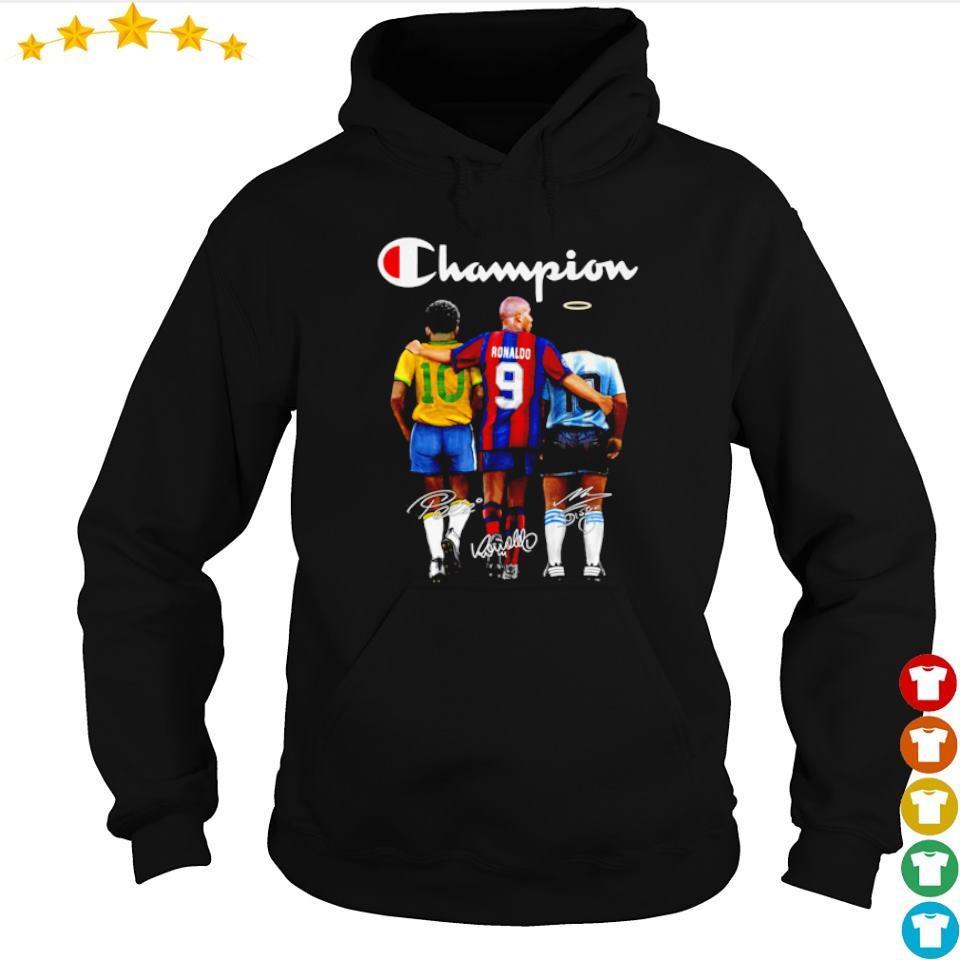 Ronaldo Pele and Diego Maradona champion signature s hoodie
