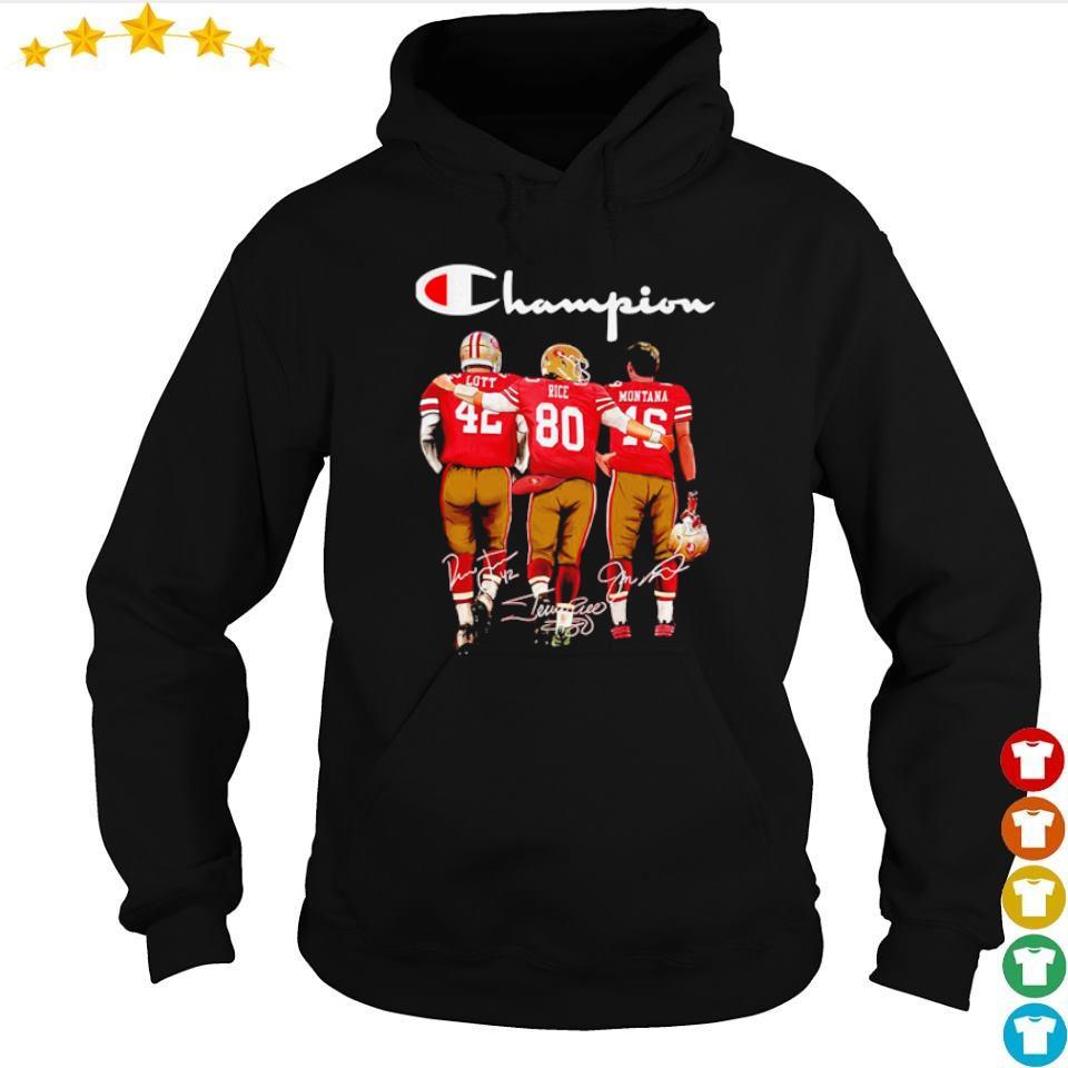 San Francisco 49ers Lott Rice Montana signature Champion s hoodie