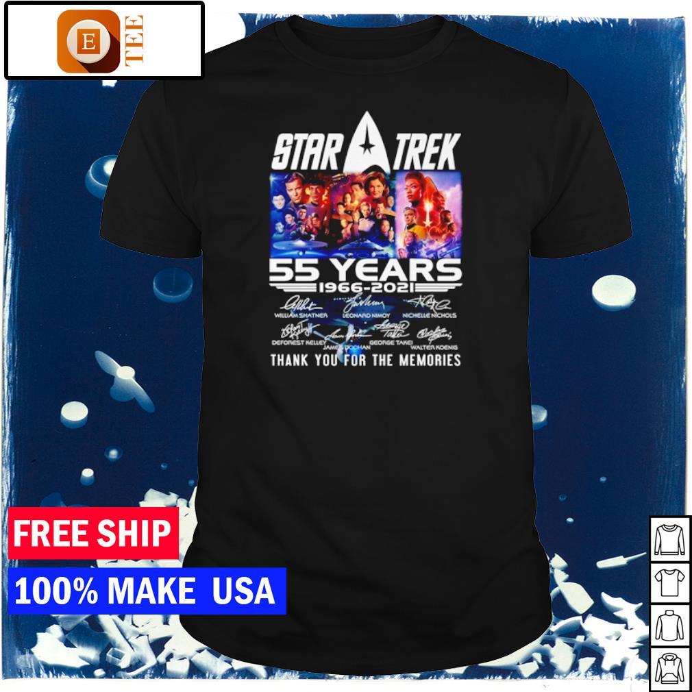 Star Trek 55 years 1966 2021 thank you for the memories signature shirt