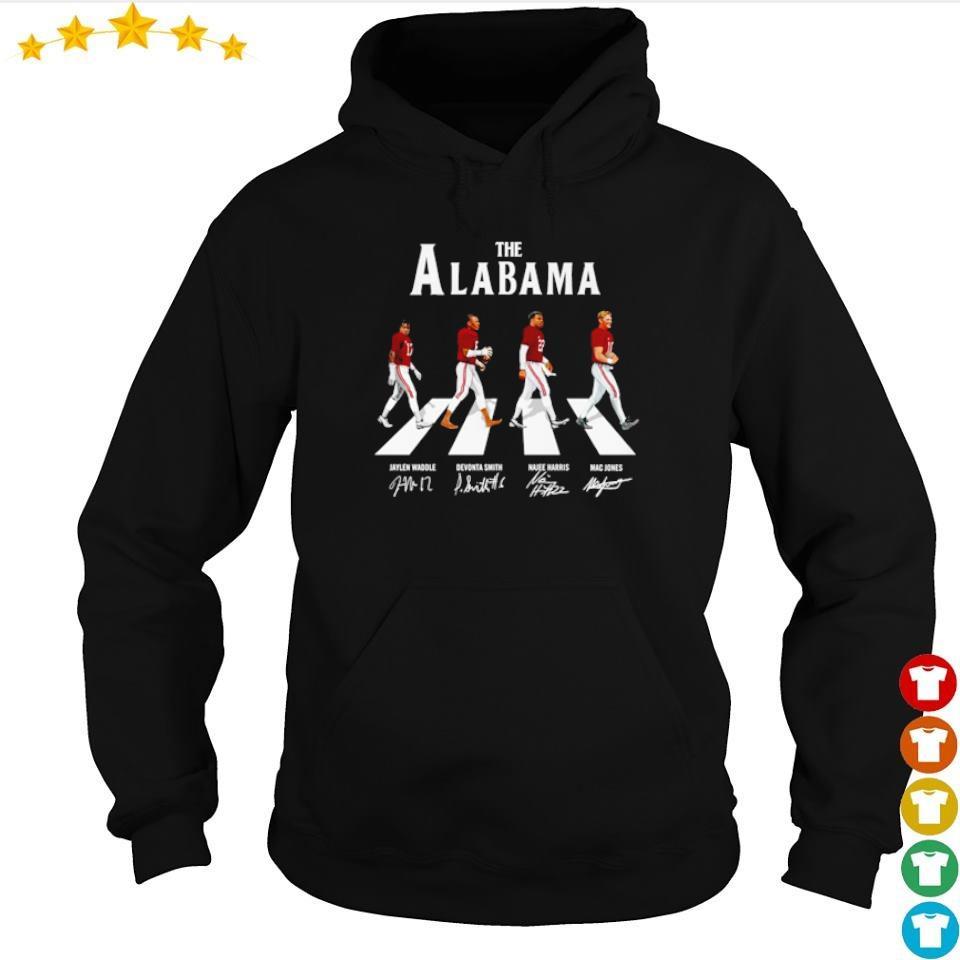 The Alabama Abbey Road Jaylen Devonta Najee and Mac signature s hoodie