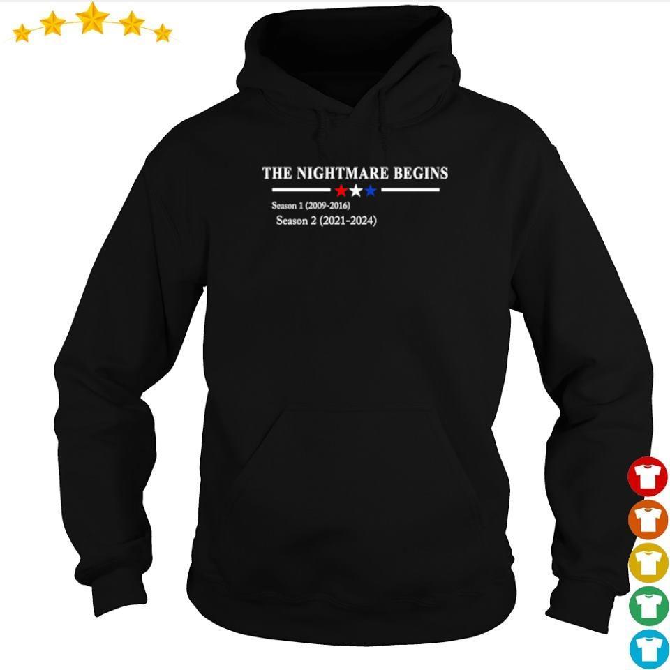 The nightmare begins season 1 2009 2016 season 2 2021 2024 s hoodie