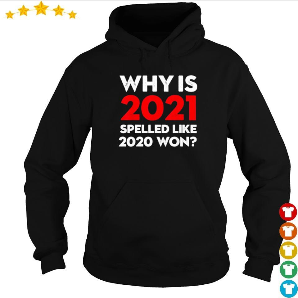 Why is 2021 spelled like 2020 won s hoodie